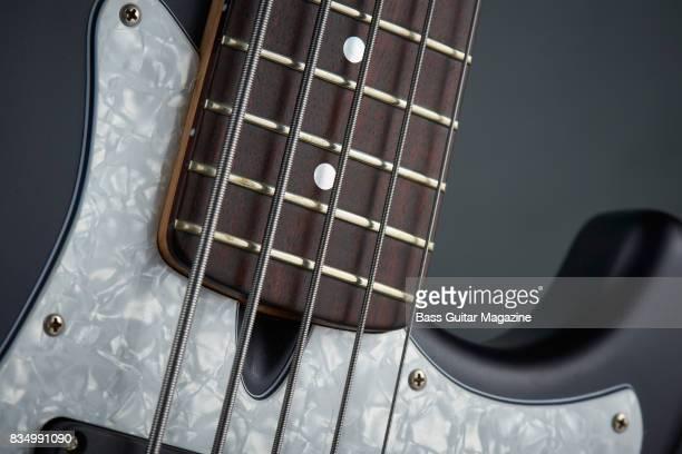 Detail of an Enfield Avenger II 5 bass guitar taken on October 14 2016