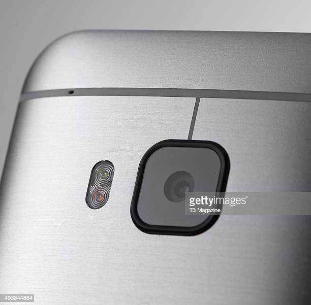 Detail of an HTC One M9 smartphone taken on February 5 2015