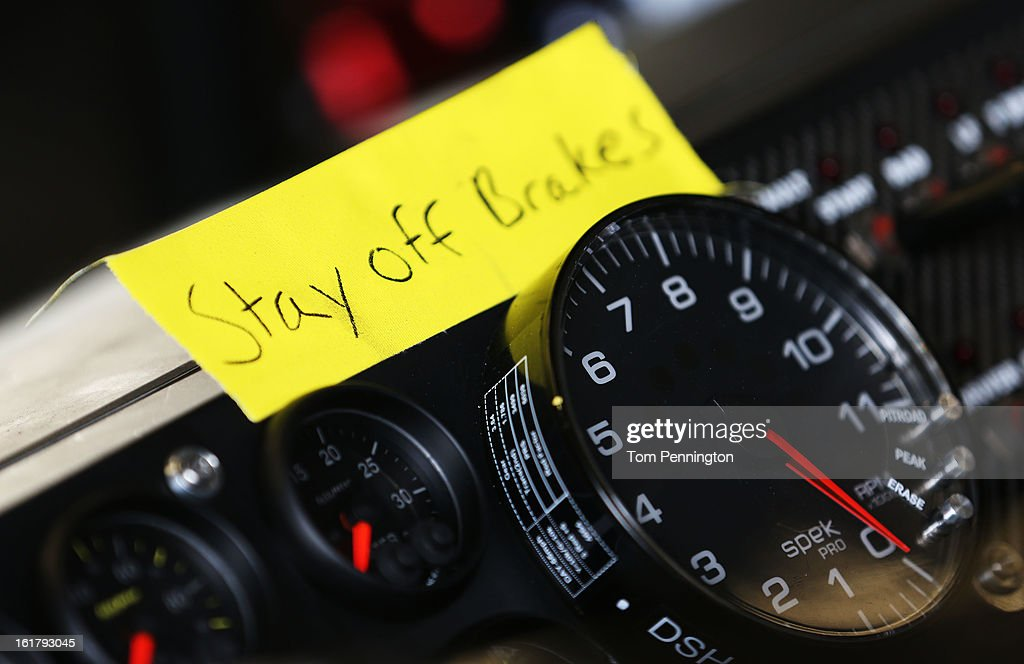Detail of an instrument panel during practice for the NASCAR Sprint Cup Series Daytona 500 at Daytona International Speedway on February 16, 2013 in Daytona Beach, Florida