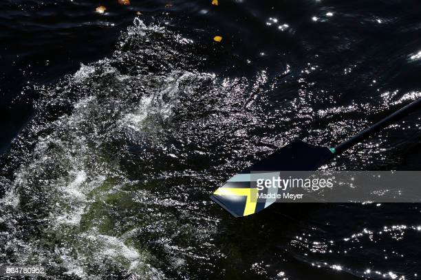 A detail of an oar during the Head of the Charles Regatta on October 21 2017 in Boston Massachusetts