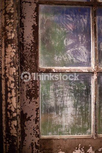 Détail Dun Ancien Cadre De Fenêtre En Bois Et Des Fenêtres Bangkok