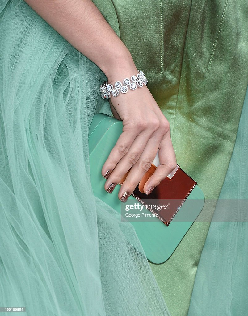 A detail of Araya A. Hargate purse at the Premiere of 'Cleopatra' at The 66th Annual Cannes Film Festival on May 21, 2013 in Cannes, France.