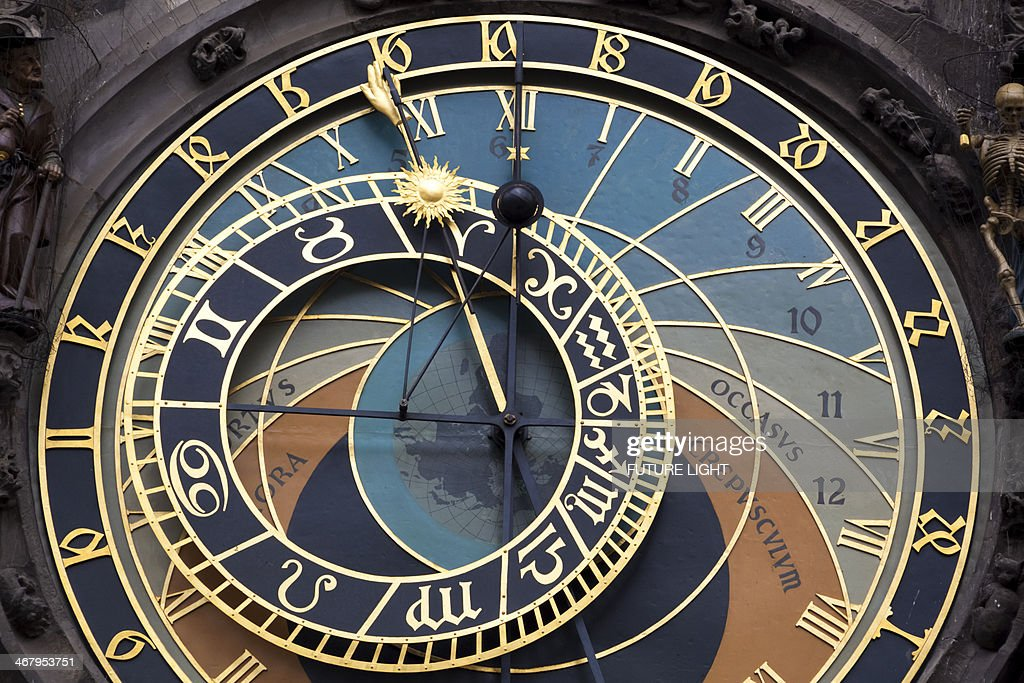 Detail of Astronomical Clock Prague Town Hall : Stock Photo