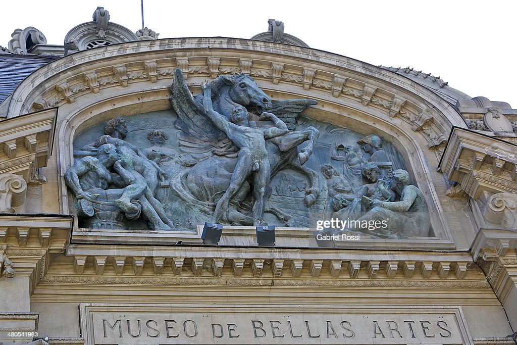 Detail of Bellas Artes Museum on March 17, 2014 in Santiago, Chile.