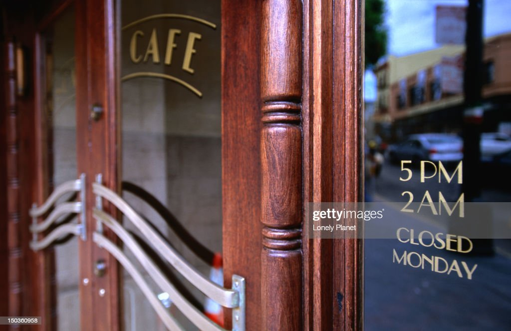 & Detail Of Cafe Door Tosca North Beach Stock Photo | Getty Images Pezcame.Com