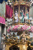 detail of candelora of the feast of santa agata in Catania, Sicily