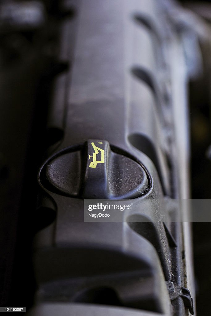 detail of car engine oil : Stock Photo