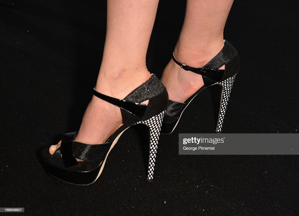A detail of Carey Mulligan shoes at a party hosted by Calvin Klein and IFP to celebrate women in film at The 66th Annual Cannes Film Festival at L'Ecrin Plage on May 16, 2013 in Cannes, France.