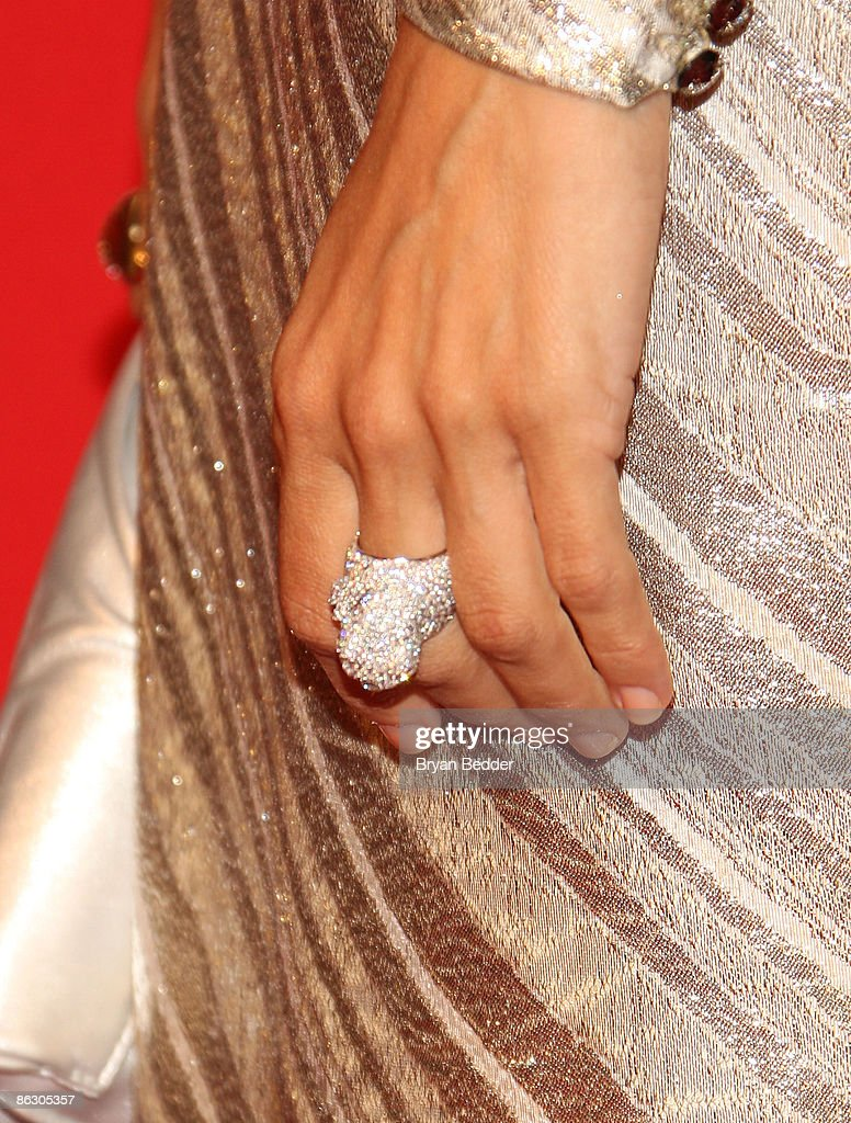Detail of Cartier designs worn by actress <a gi-track='captionPersonalityLinkClicked' href=/galleries/search?phrase=Eva+Mendes&family=editorial&specificpeople=194937 ng-click='$event.stopPropagation()'>Eva Mendes</a> at the Cartier 100th Anniversary in America Celebration at Cartier Fifth Avenue Mansion on April 30, 2009 in New York City.