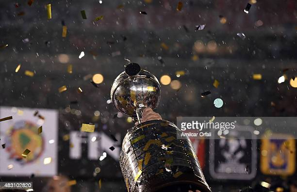 Detail of champion's trophy after a second leg final match between River Plate and Tigres UANL as part of Copa Bridgestone Libertadores 2015 at...