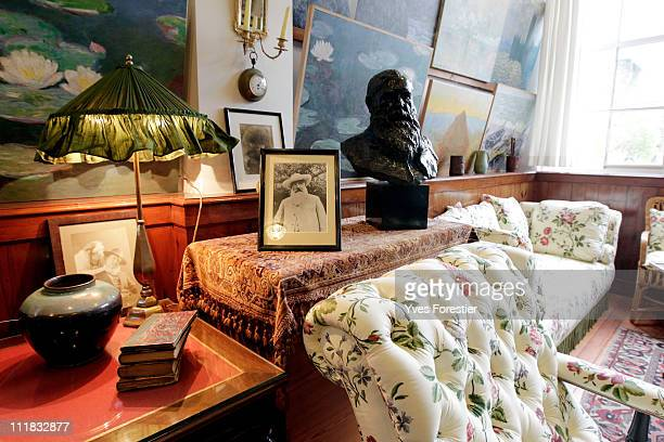 A detail of Claude Monet's painting studio in his Giverny house following a restoration project on April 4 2011 in Giverny France The studio was...
