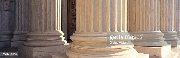 Detail of columns at the US Supreme Court, Washington DC