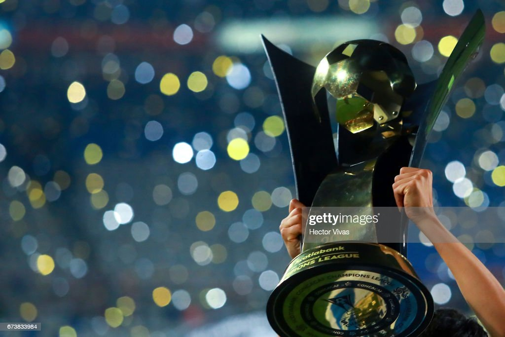 Detail of CONCACAF Champions League throphy after the Final second leg match between Pachuca and Tigres UANL as part of the CONCACAF Champions League 2016/17 at Hidalgo Stadium on April 26, 2017 in Monterrey, Mexico.