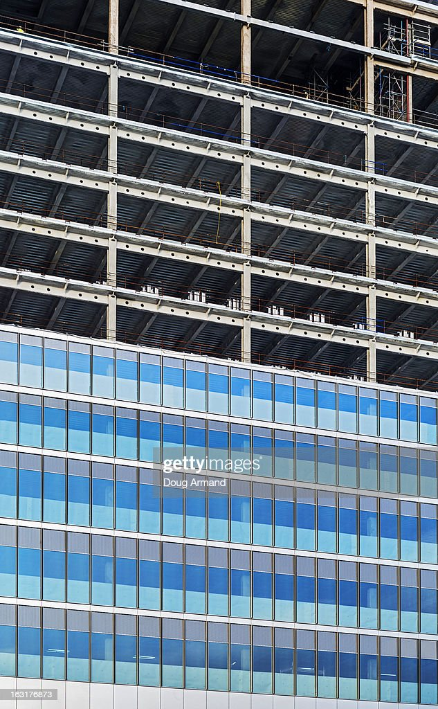 Detail of construction of a new building : Stock Photo