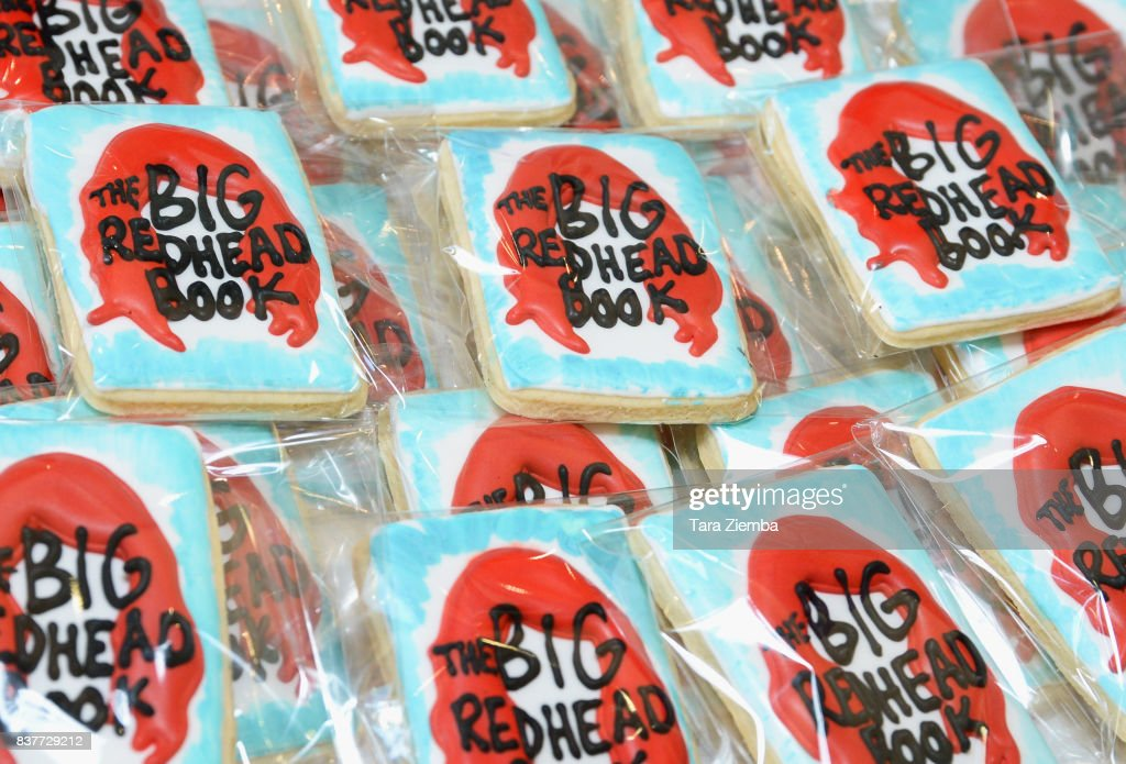 Detail of cookies at the book launch celebration for Erin La Rosa's 'The Big Redhead Book' at Blushington on August 22, 2017 in West Hollywood, California.
