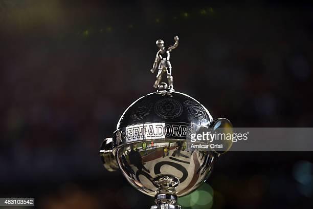 A detail of Copa Libertadores trophy during a second leg final match between River Plate and Tigres UANL as part of Copa Bridgestone Libertadores...