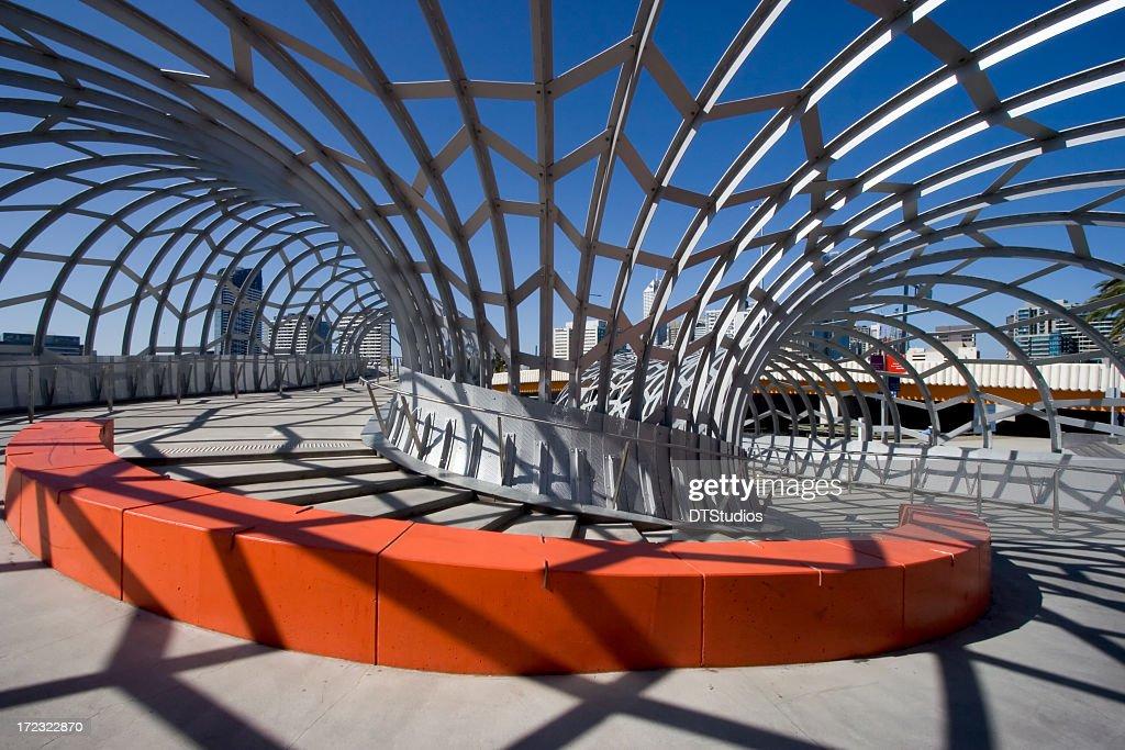 Detail of corner in Webb Bridge, Melbourne, Australia