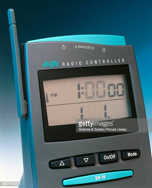 Detail of display This radiocontrolled digital display clock was made by Oregon Scientific United States By the end of the 1990s radiocontrolled...
