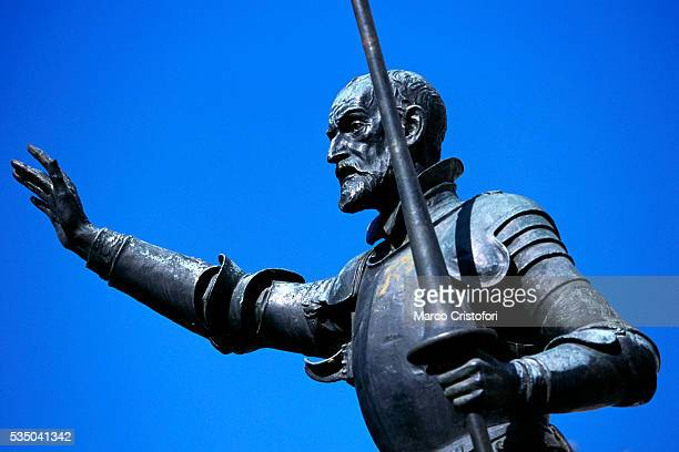 Detail of Don Quixote Statue from Monument to Cervantes