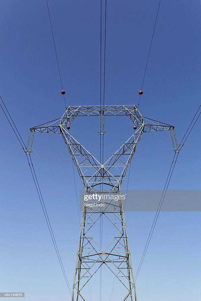 Detail of electricity pylon : Stock Photo