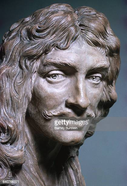Detail of Face from Moliere by JeanAntoine Houdon