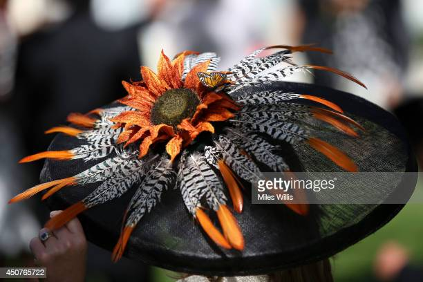 Detail of Fascinator worn during day one of Royal Ascot at Ascot Racecourse on June 17 2014 in Ascot England