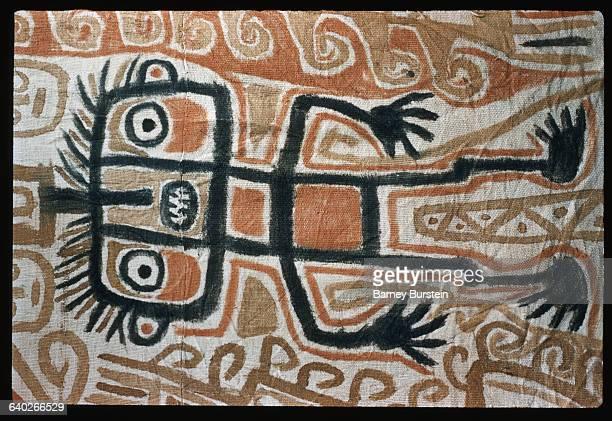 Detail of Figure from Australian Aborigine Bark Painting