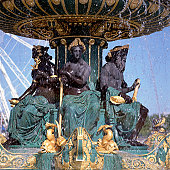 Detail of fountain in Paris