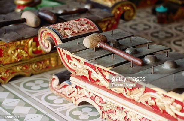 Detail of gamelan orchestra instrument (gamelan) in Sultan?†s Palace.