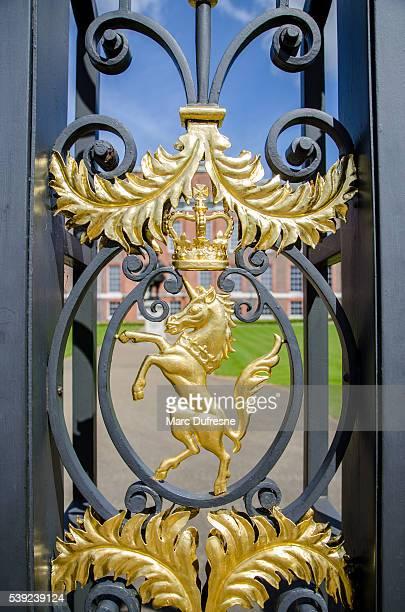 Detail of Gate side of Kensington Palace - Unicorn