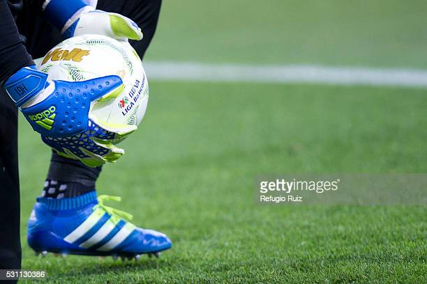 Detail of gloves prior the quarter finals first leg match between Chivas and America as part of the Clausura 2016 Liga MX at Chivas Stadium on May 12...