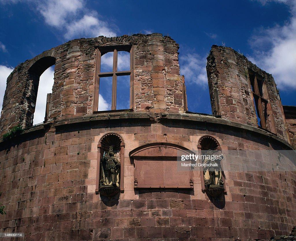 Detail of Heidleberg Castle. : Stock Photo