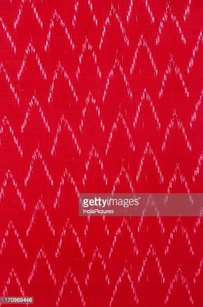 Detail of Ikat textile Orissa India