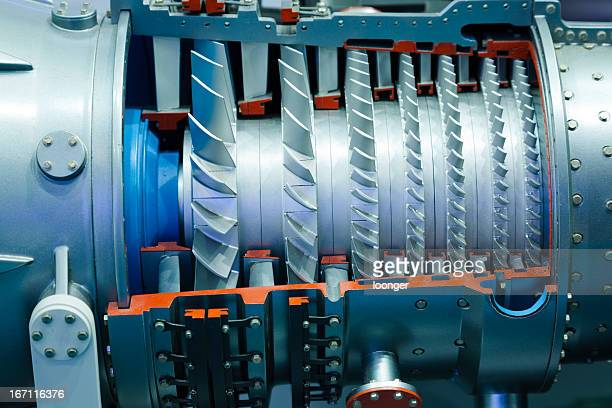 Detail of industrial gas turbine