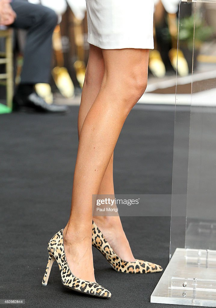 Detail of Ivanka Trump's pumps at the Trump International Hotel Washington, D.C Groundbreaking Ceremony at Old Post Office on July 23, 2014 in Washington, DC.