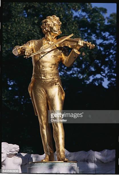 Detail of Johann Strauss Memorial by Edmund von Hellmer