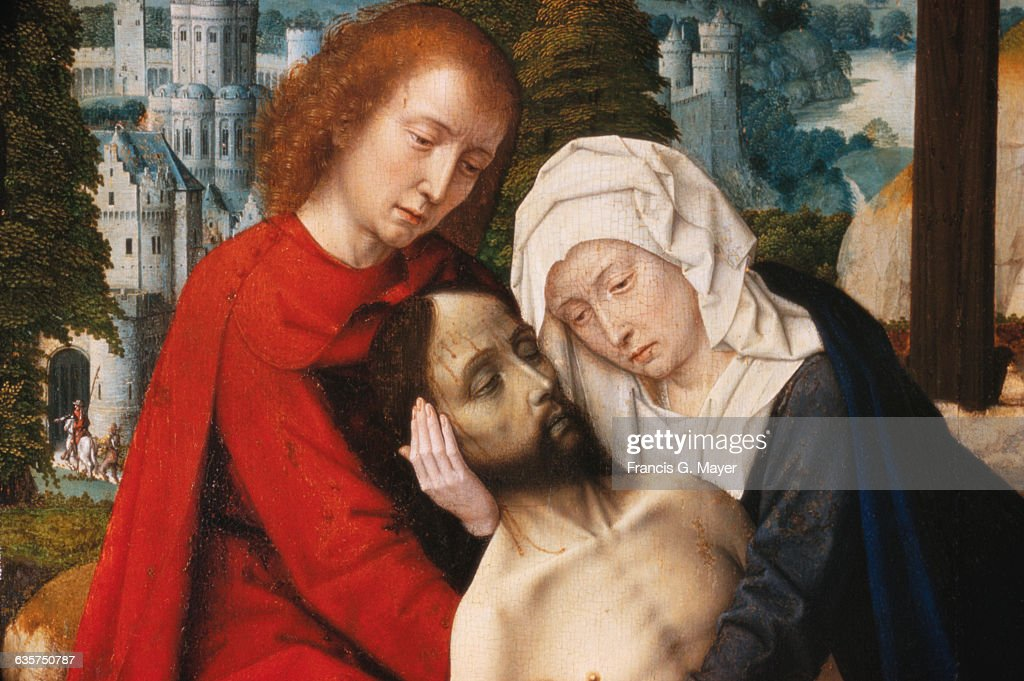 Detail of Lamentation by Gerard David