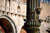 Detail of lamppost in Venice
