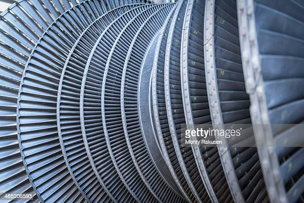 Detail of low pressure steam turbine
