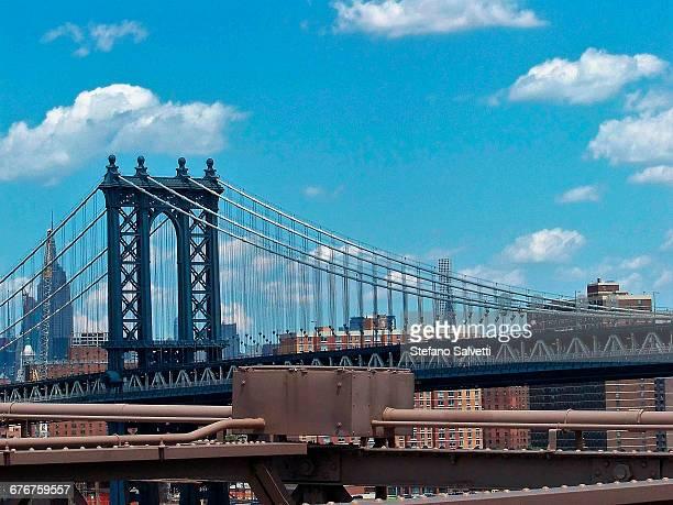 detail of Manhattan bridge