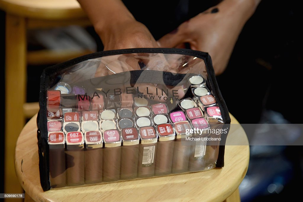Detail of Maybelline lipsticks Seen Around Fall 2016 New York Fashion Week at the Skylight at Clarkson sq on February 11, 2016 in New York City.
