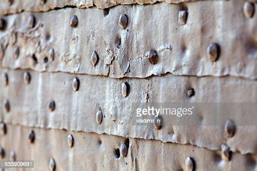 Detalhe de porta medieval gate : Foto de stock