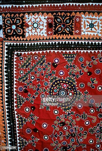 Detail of mirror work Kutch Gujarat India