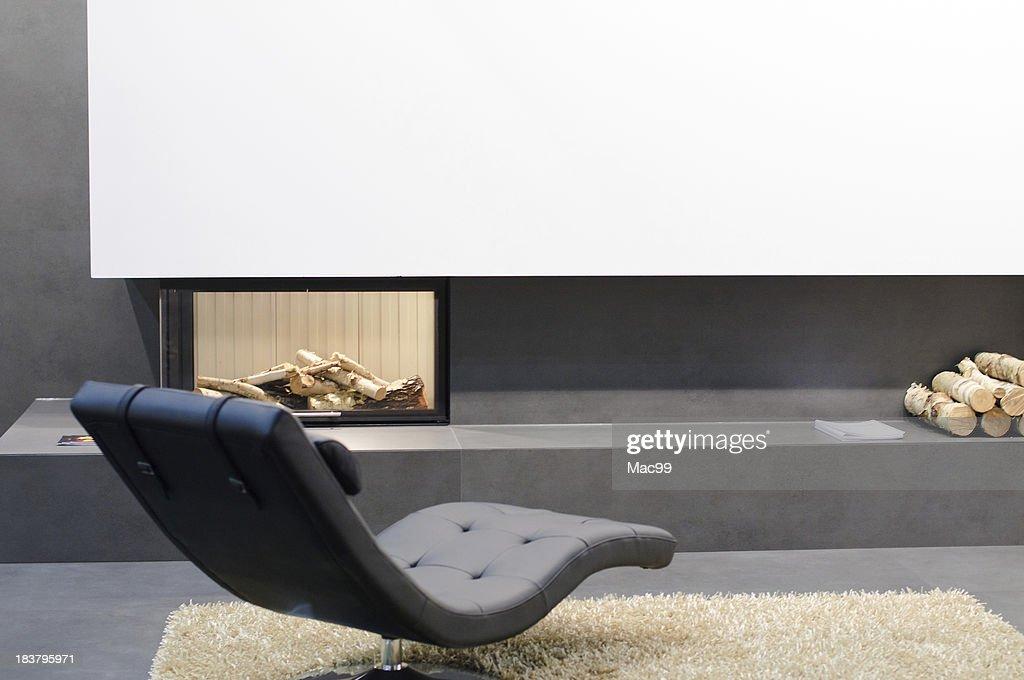 Detail of modern living room