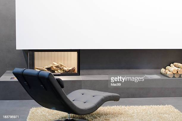 Detail of modern living room
