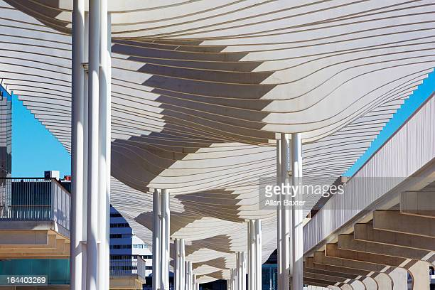 Detail of new cruise Seaport in Malaga