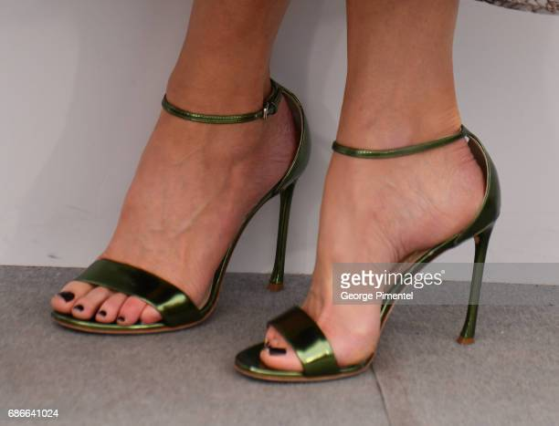 A detail of Nicole Kidman's shoes at the 'The Killing Of A Sacred Deer' photocall during the 70th annual Cannes Film Festival at Palais des Festivals...