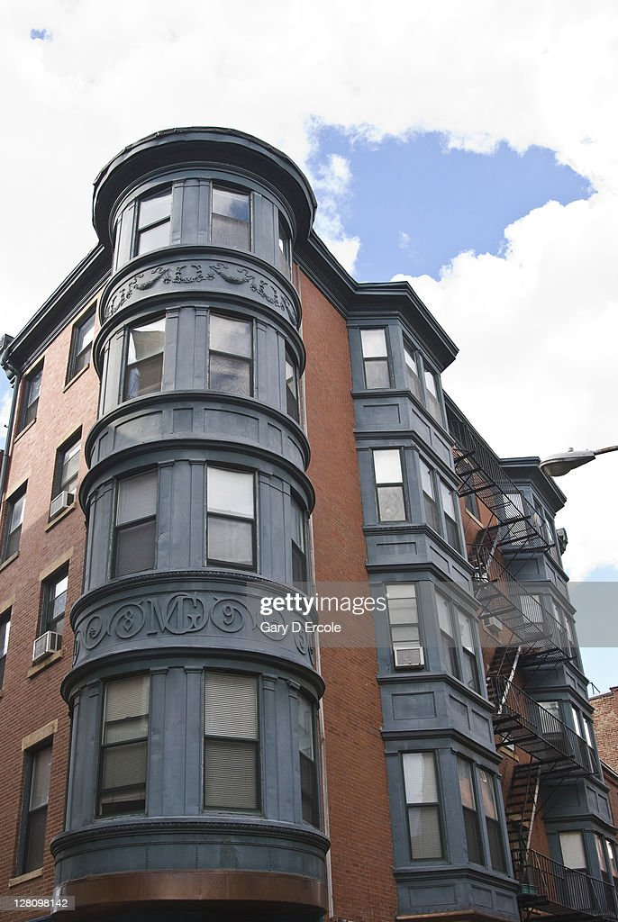 Detail Of Old Apartment Building With Round Turret North End Boston Ma  Stock Photo | Getty Images Part 78