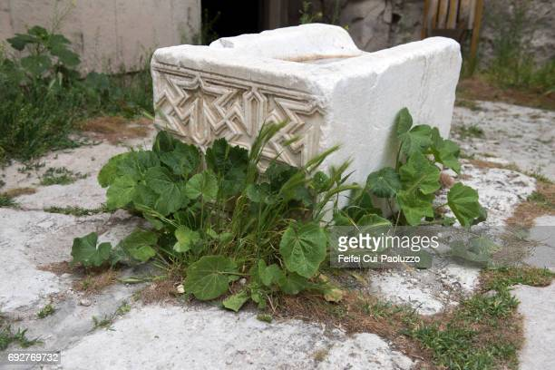 Detail of ornamental stonework at Sultan Han, in the town of Sultanhanı, Central Anatolia, Turkey