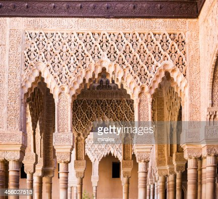 Granada spain stock photos and pictures getty images for Alhambra decoration